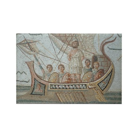 Mosaic of Ulysses Rectangle Magnet
