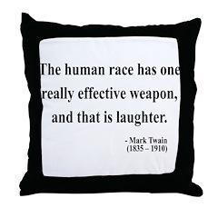 Mark Twain 44 Throw Pillow