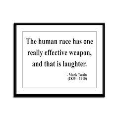 Mark Twain 44 Framed Panel Print