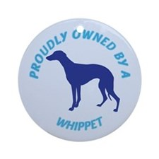 Proudly Owned Whippet Ornament (Round)