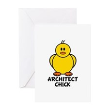 Architect Chick Greeting Card