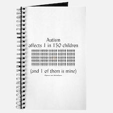 Autism 1 in 150 (black) Journal