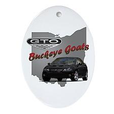 Black GTO Oval Ornament