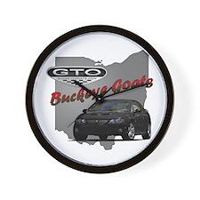 Black GTO Wall Clock