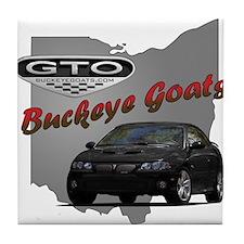 Black GTO Tile Coaster