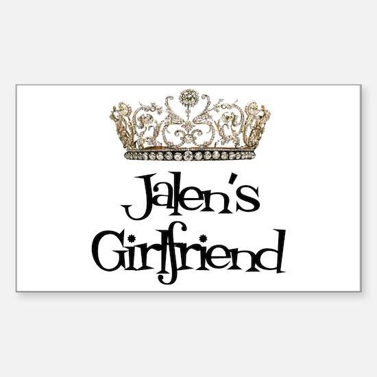Jalen's Girlfriend Rectangle Decal