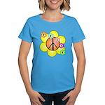 Peace Blossoms / orange Women's Dark T-Shirt
