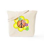 Peace Blossoms / orange Tote Bag