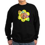 Peace Blossoms / orange Sweatshirt (dark)