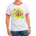 Peace Blossoms / orange Ringer T