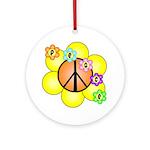Peace Blossoms / orange Ornament (Round)