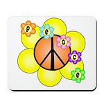 Peace Blossoms / orange Mousepad
