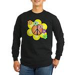 Peace Blossoms / orange Long Sleeve Dark T-Shirt