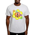 Peace Blossoms / orange Light T-Shirt