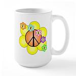 Peace Blossoms / orange Large Mug