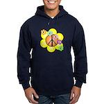 Peace Blossoms / orange Hoodie (dark)