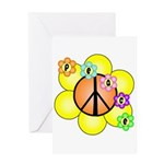 Peace Blossoms / orange Greeting Card