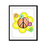 Peace Blossoms / orange Framed Panel Print