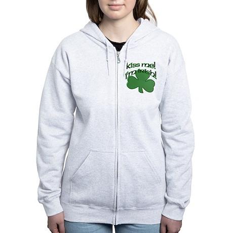 Kiss me, I'm Irish! Women's Zip Hoodie