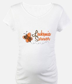 Leukemia Survivor 1 Butterfly 2 Shirt