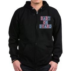 Baby On Board (blocks) Zip Hoodie (dark)
