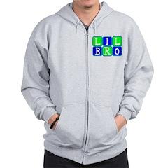 Lil Bro (Blue/Green Bright) Zip Hoodie