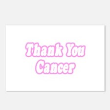 """""""Thank You Cancer (Pink)"""" Postcards (Package of 8)"""