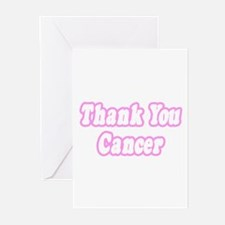 """Thank You Cancer (Pink)"" Greeting Cards (Pk of 20"