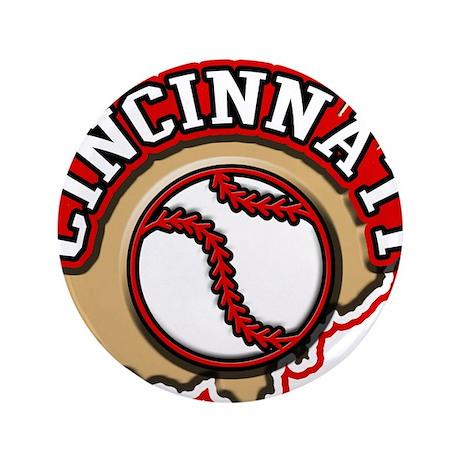 "Cincinnati Baseball 3.5"" Button (100 pack)"