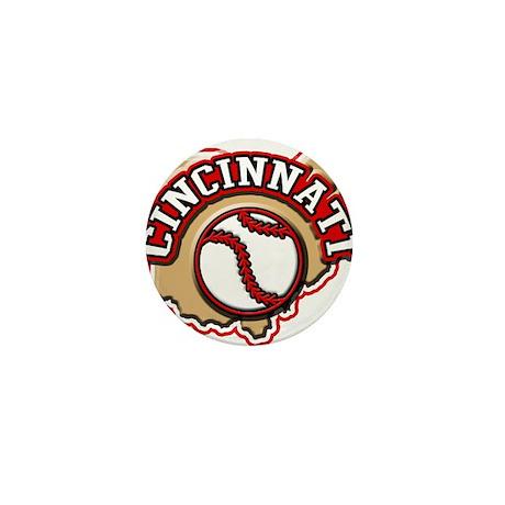 Cincinnati Baseball Mini Button (10 pack)