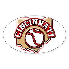 Cincinnati Baseball Oval Decal