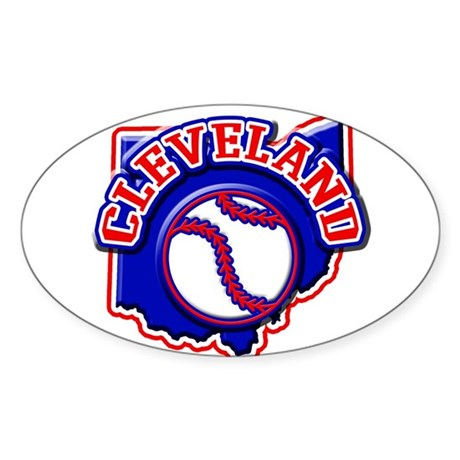 Cleveland Baseball Oval Sticker (10 pk)