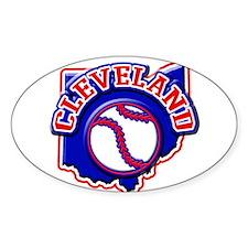 Cleveland Baseball Oval Decal