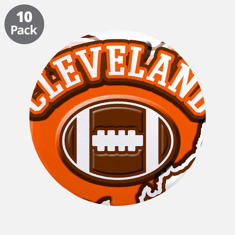 "Cleveland Football 3.5"" Button (10 pack)"