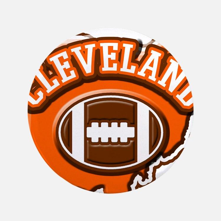 """Cleveland Football 3.5"""" Button"""