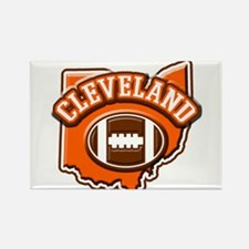 Cleveland Football Rectangle Magnet (100 pack)