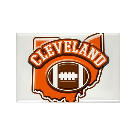 Cleveland Football Rectangle Magnet (10 pack)