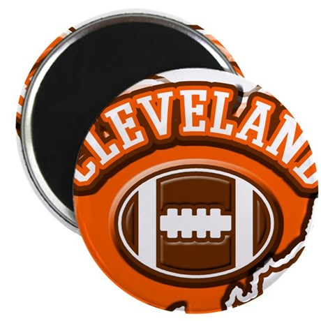 "Cleveland Football 2.25"" Magnet (10 pack)"