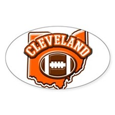 Cleveland Football Oval Decal