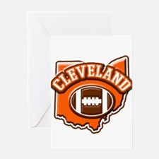 Cleveland Football Greeting Card