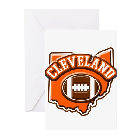 Cleveland Football Greeting Cards (Pk of 10)