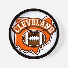 Cleveland Football Wall Clock