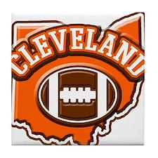 Cleveland Football Tile Coaster