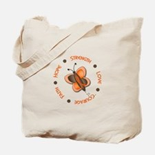 Hope Courage 1 Butterfly 2 ORANGE Tote Bag