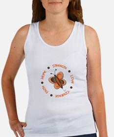 Hope Courage 1 Butterfly 2 ORANGE Women's Tank Top