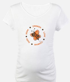 Hope Courage 1 Butterfly 2 ORANGE Shirt