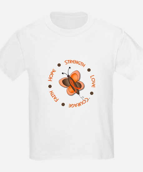 Hope Courage 1 Butterfly 2 ORANGE T-Shirt