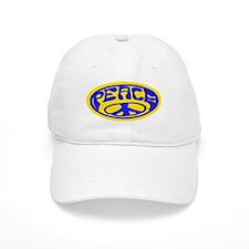 Oval Peace /blue Baseball Cap