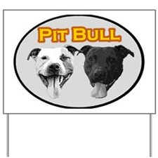 Pit Bull (yellow) Yard Sign