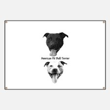 Cute Dog fighting Banner